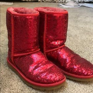 74ef50e789f Women Red Sequin Uggs on Poshmark
